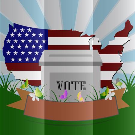 Election box USA vector Illustration