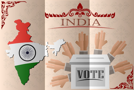 votes: India election ballot box for collecting votes Illustration