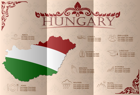 Hungary infographics, statistical data, sights. Vector illustration