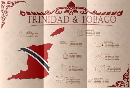 sights: Trinidad and Tobago   infographics, statistical data, sights. Vector illustration Illustration