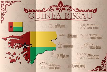 guinea bissau: Guinea Bissau infographics, statistical data, sights. Vector illustration