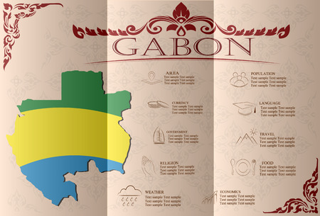 gabon: Gabon infographics, statistical data, sights. Vector illustration Illustration