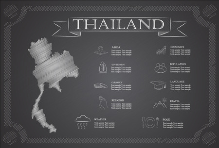 statistical: Thailand infographics, statistical data, sights