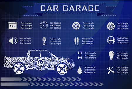car service: Car service, repair Infographics. Vector illustration Illustration