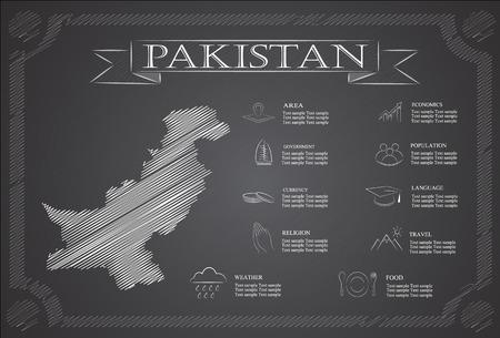 statistical: pakistan infographics, statistical data, sights. Illustration