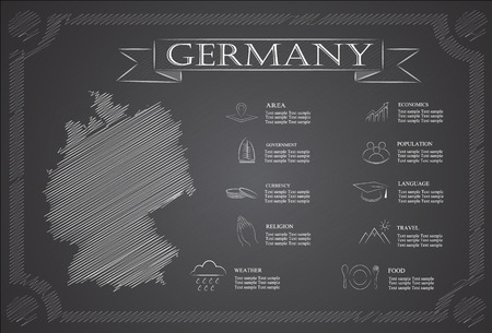 statistical: Germany infographics, statistical data, sights.