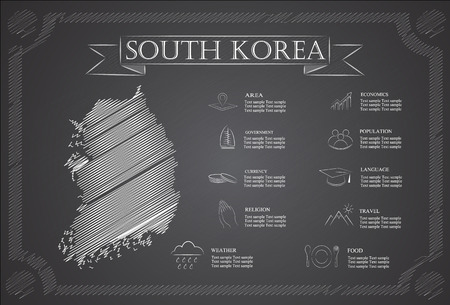 statistical: South Korea infographics, statistical data, sights.