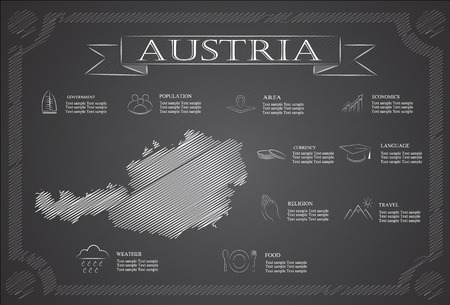 statistical: Austria infographics, statistical data, sights. Illustration