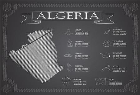 statistical: Algeria infographics, statistical data, sights.