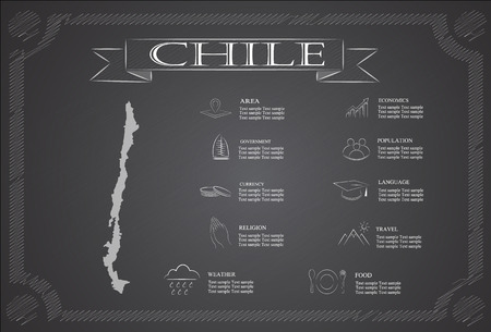 statistical: chile infographics, statistical data, sights.