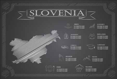 statistical: Slovenia infographics, statistical data, sights.