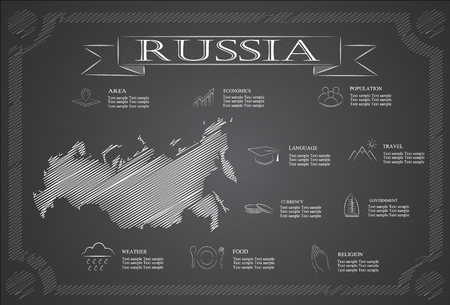 statistical: russia infographics, statistical data, sights.