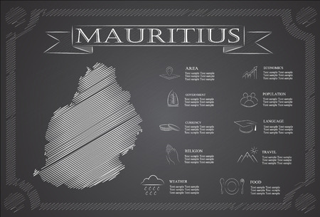 statistical: Mauritius infographics, statistical data, sights.