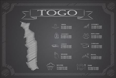 togo: Togo,infographics, statistical data, sights. Illustration