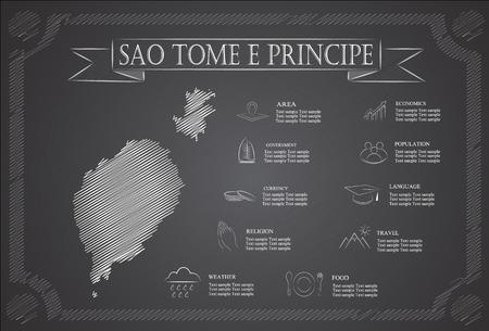 principe: Infografía Santo Tomé y Príncipe, datos estadísticos, de las vistas. Vectores