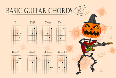 basic: Basic guitar chords ,Vector illustration