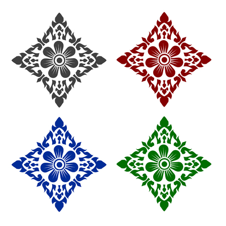 line thai: Line Thai art pattern vector illustration