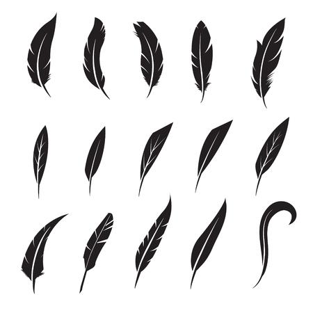 Icône de plume. écriture Feather outil icône. Concept de style plat illustration de conception icône Banque d'images - 48424931