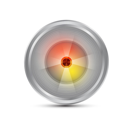 telephoto: Camera photo lens, vector illustration. Illustration