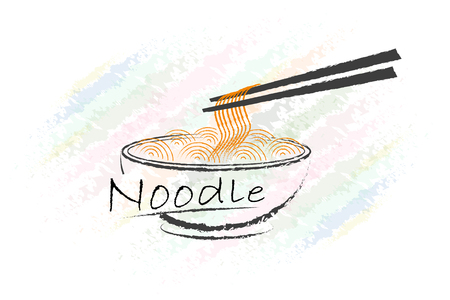 chinese food: noodle logo design