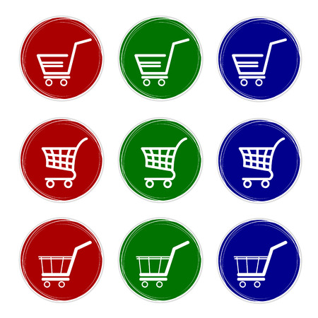 busyness: Shopping basket button. Internet Shopping Illustration