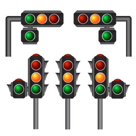 semaforo rojo: Los sem�foros ilustraci�n vectorial, 10eps Vectores