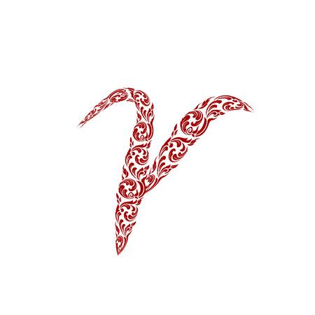 line thai: Abstract vector alphabet - r  made from line thai art pattern - alphabet set