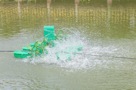 water turbine: Water turbine for increasing oxygen in the water.