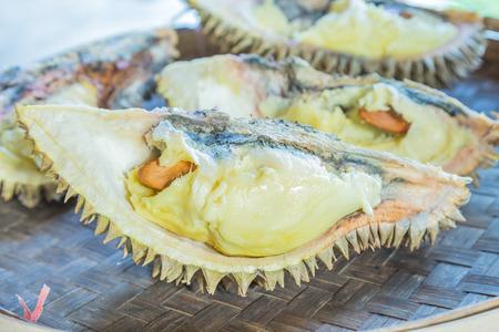 rotten fruit: Durian and durian fruit is rotten. Stock Photo