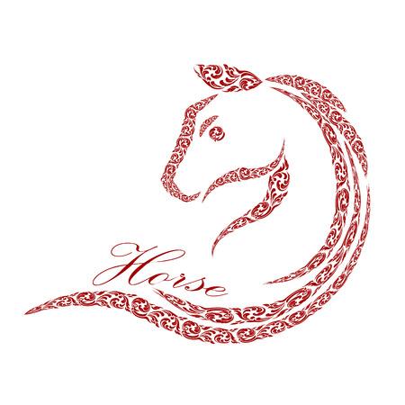 paddock: horse design Illustration