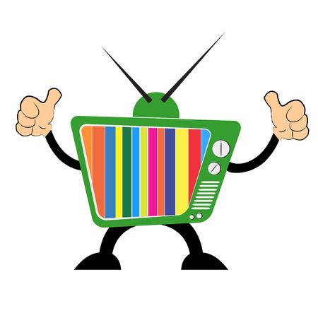 retro tv: Retro tv set vector icon. Illustration