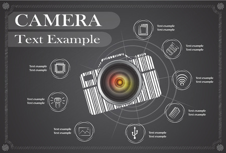 camera and Video icons ,Illustration 10