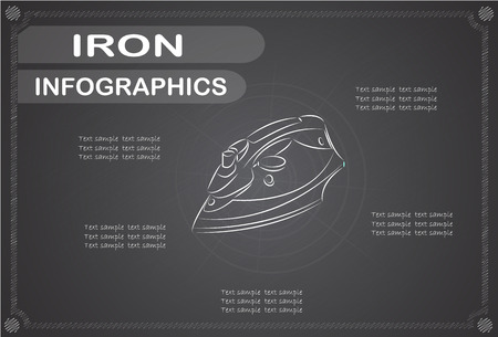 wattage: Iron infographics, Vector illustration.