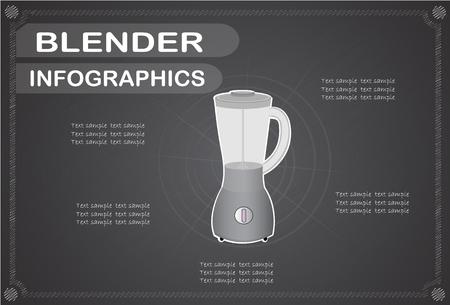 blending: blender  infographics, Vector illustration.