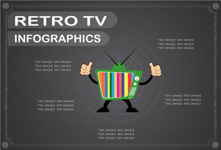 retro tv: retro tv  infographics, Vector illustration.