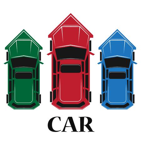 spoiler: Car top icon , vector illustration Illustration