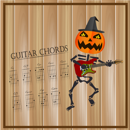 Basic Guitar Chords ,Vector Illustration Royalty Free Cliparts ...