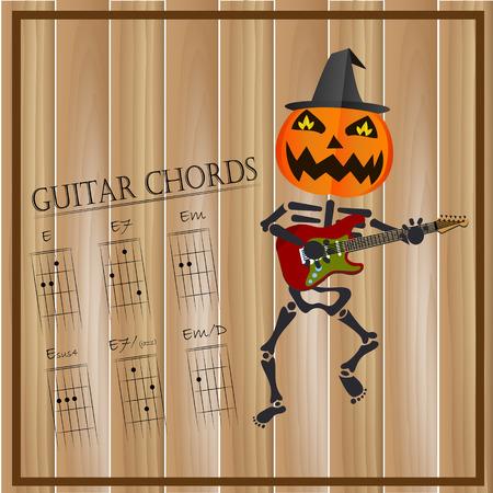 Basic Guitar Chords ,Vector Illustration Royalty Free Cliparts ...