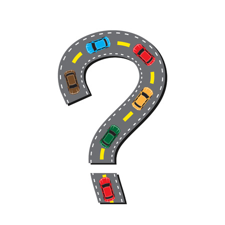 carriageway: road in the form of a question mark
