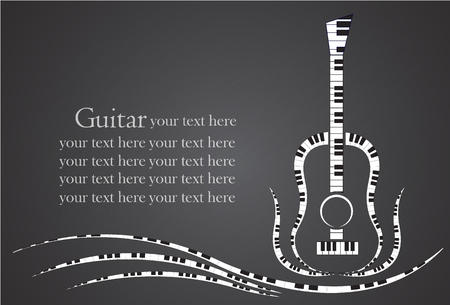 Music guitar made from piano