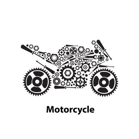 Résumé des engrenages en forme de moto