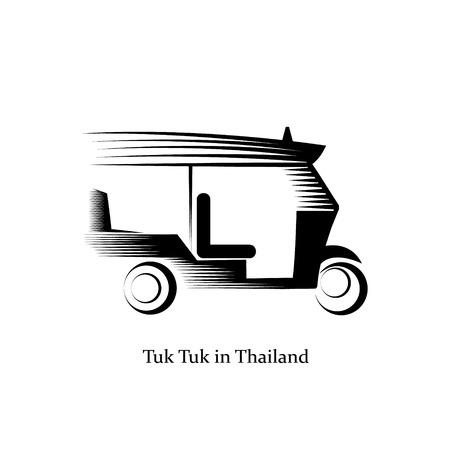 tuk tuk in Bangkok of Thailand design vector