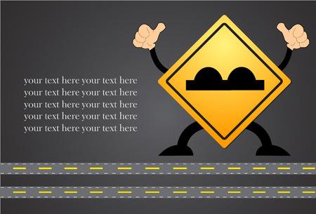 beware: Road Sign beware surface roughness