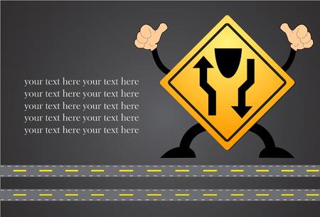 stat: Traffic sign. Highway stat Illustration