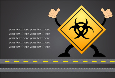 threat: Biohazard sign of biological threat alert. Vector illustration