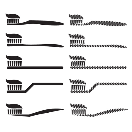 fluoride: Simple Image toothbrush Illustration