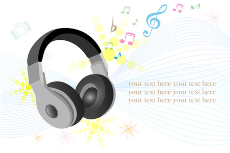 earphone: earphone , Vector illustration.