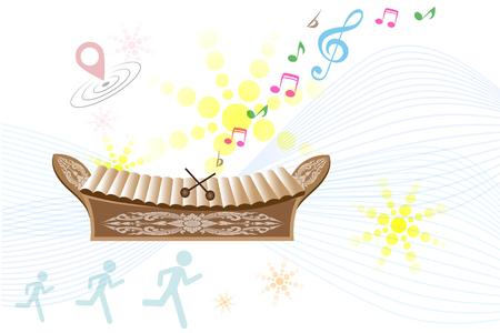 xilofono: xilófono, fondo musical