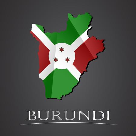 Map of burundi. vector illustration