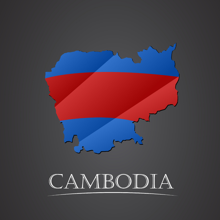 cantons: Map of cambodia. vector illustration